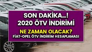 Son dakika! 2020 ÖTV indirimi ne zaman olacak? Opel, Fiat ÖTV hesaplaması  nasıl olur?