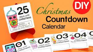 Calendar Countdown Days How To Make A Christmas Countdown Calendar Easy Diy Youtube
