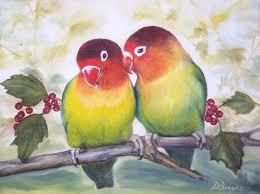 love birds painting love birds by dorothy brooks