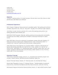 Cover Letter Welder Resume Sample Experience Welder Resume Sample