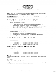 Resume Accomplishments Sample Restaurant Manager Resume Sample 60 Examples Ta RS Geer Books 45