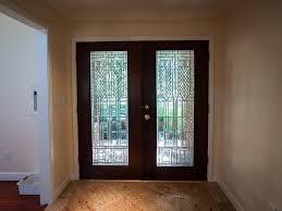 steel entry door glass inserts