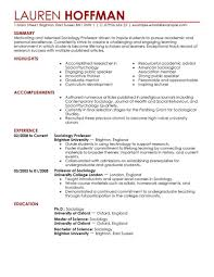 professor resume example education resume templates
