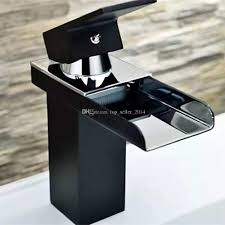 Modern Bathroom Taps 2017 New Waterfall Basin Sink Tap Square Mixer Faucet Chrome Mono