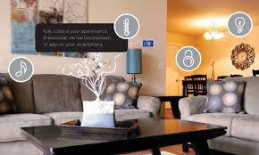 TLC Properties smart apartment living room and dining room
