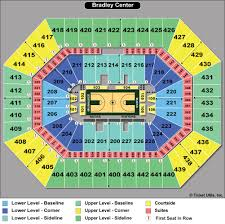 Actual Bradley Center Seat Map View From My Seat Bradley Center