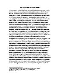 was julius caesar an effective leader a level classics marked  page 1 zoom in