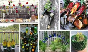 15 terrific diy glass bottle yard decor that will impress you