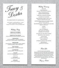 Ceremony Template Wedding Ceremony Program Template 31 Word Pdf Psd