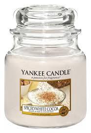 <b>Ароматическая свеча Spiced White</b> Cocoa Yankee Candle купить ...