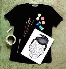 paint your own calavera t shirt for day