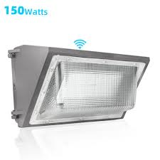 Outdoor Light Cover Replacement Us 139 0 150w Led Outdoor Lighting Wall Pack Light Wall Street Lamp High Bright Waterproof 500 800w Hps Equivalent Court Garage Light In Outdoor
