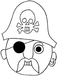 Disegno Di Maschera Del Pirata Da Colorare Per Bambini