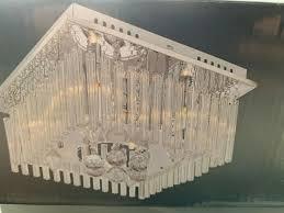 Lampe Decken Luxus Kristalle Chrom Strahler Flur Beleuchtung
