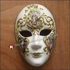 Decorative Venetian Wall Masks Lace Venice Venetian Music Masquerade Full Face Musical Silver 58