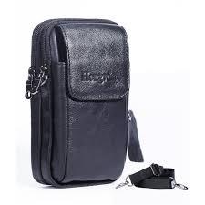 genuine leather vertical men cellphone belt loop holster case belt waist bag mini travel messager pouch