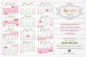 Free 2015 Calendar Devereux Creative Wedding Invitations