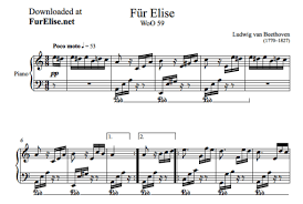 Mp3 • • annotate this sheet music piano solo sheet music fjh. Fur Elise Sheet Music Free Piano Tutorial Fur Elise
