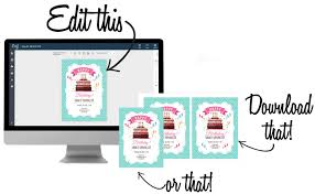create fun editable party invitations in etsy and elsewhere