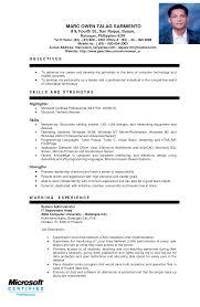 Resume Sample For Ojt Business Administration Sidemcicek Com