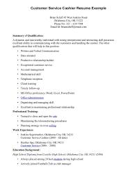 Resume Retail Cashier Resume