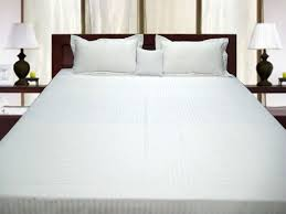 white bed sheets. Buy Pure Egyptian Cotton Double Bed Fitted Sheet - White Stripe Online Sheets W
