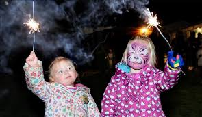 Image result for bonfire night celebrations kids sparklers