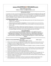 Police Officer Sample Resume. Ideas Of Law Enforcement Resume ...
