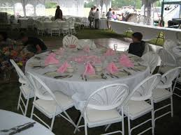 seen in photo 120 white tablecloth 72 round table white padded chairs