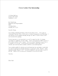 Internship Cover Letters Hr Letter Pdf For Architecture With
