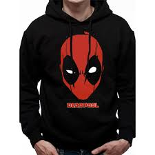 Deadpool - Deadpool Logo Men's Large Hooded Sweatshirt - Black ...