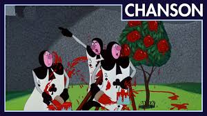 alice in wonderland painting the roses red french version