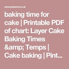 Baking Time For Cake Printable Pdf Of Chart Layer Cake