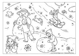 Small Picture winter snow scene coloring pages winter coloring pages on