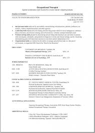 Occupational Therapy Resume Mesmerizing Occupational Therapy Resume Occupational And Recreational Therapy
