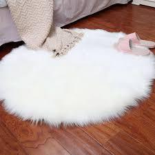 faux sheepskin wool carpet 30 x 30 cm fluffy soft longhair decorative carpet cushion chair sofa