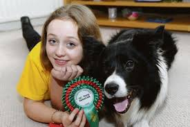 One girl and her collie take on the world - and win   Echo