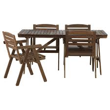 outdoor table and chair sets. IKEA FALHOLMEN Table+4 Chairs W Armrests, Outdoor Table And Chair Sets R