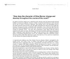 how does the character of silas marner change and develop  document image preview
