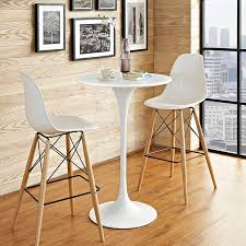 tulip table replica 28 round wood top bar table white