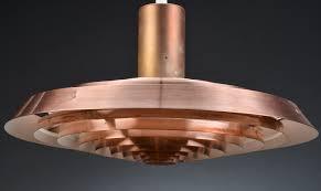 Scandi Retro - Vintage PH Plate (Tallerken) Lamp In Copper by Poul  Henningsen For Louis Poulsen