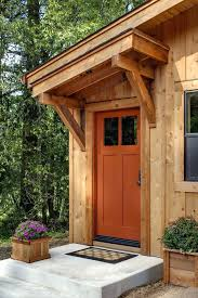 front door awningsFront Door Awnings Entry Contemporary With Concrete Patio Orange