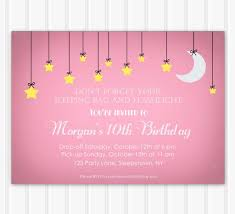 sleepover template birthday and party invitation invitations for sleepover party