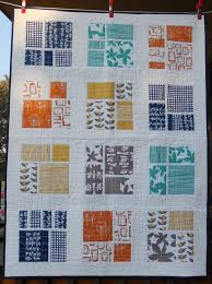 2849 best Quilt Love images on Pinterest   Beautiful, Gray quilts ... & This layout could be used for a collection that has an impressive main  fabric design and lovely complimentary designs. Modern quilt geometric  print by ... Adamdwight.com