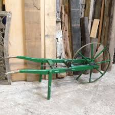 seed drill vintage wooden seed sower c w seed planting tray decorative garden feature