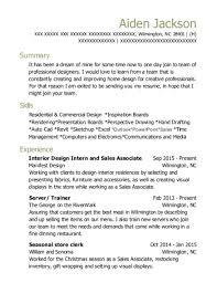 Manifest Design Interior Design Intern And Sales Associate Resume
