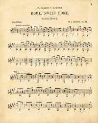 Home Sweet Home Antique Sheet Music Printable Knick Of Time