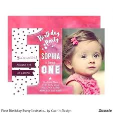 1st Birthday Party Invitation Template Beautiful Baby Girl 1st Birthday Invitation Templates
