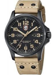 luminox watches view the creative watch co range luminox men s 1920 series field atacarma 45mm black case watch on tan strap
