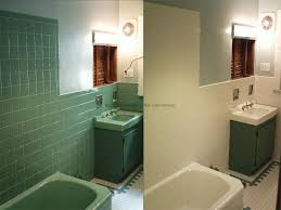 image of can you paint tile floors bathub before after